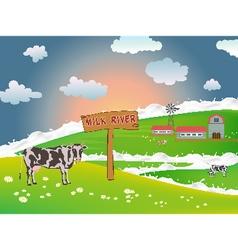 Dairy cows vector