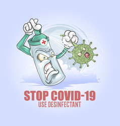 Desinfectant vs corona covid-19 virus vector