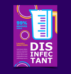 disinfectant creative advertising poster vector image