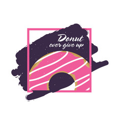 Donuts ever give up icon vector