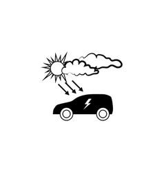 electrocar icon electrocar sign recharging vector image