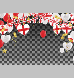 england balloons with countries flags of national vector image