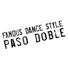Famous dance style Paso Doble stamp vector image