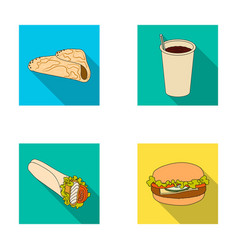 fast meal eating and other web icon in flat vector image