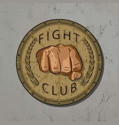 fight club vintage emblemstampsymbol vector image