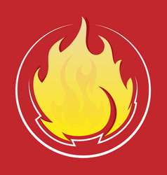 Fire design elements vector