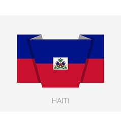 Flag of Haiti Flat Icon vector