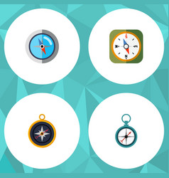 flat icon direction set of divider measurement vector image