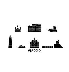 France ajaccio flat travel skyline set france vector