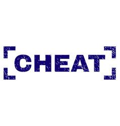 Grunge textured cheat stamp seal inside corners vector