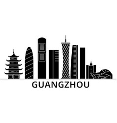 guangzhou architecture city skyline travel vector image