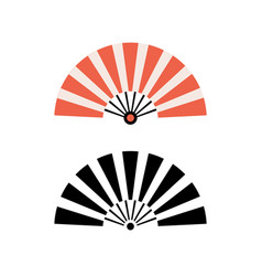 Hand fan chinese fold clipart icon japan held fan vector