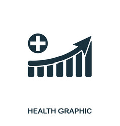 Health increase graphic icon mobile apps vector