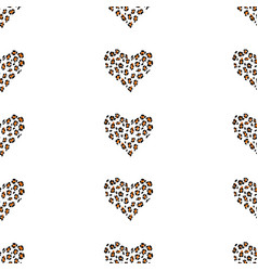 Heart of a leopard skin vector