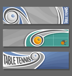 horizontal banners for table tennis vector image