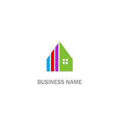 house realty colorful design logo vector image
