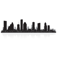Houston USA city skyline silhouette vector image vector image