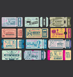 ice hockey game tickets vector image