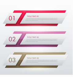 infographic design template for three steps vector image