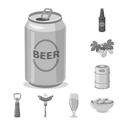 isolated object of pub and bar icon collection of vector image