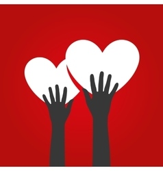 Logo heart vector