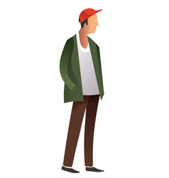 male in casual trendy clothes standing isolated on vector image