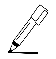 Marker pen isolated icon vector