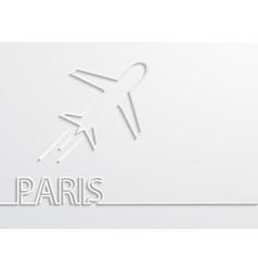 Modern paris capital background vector