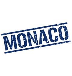 Monaco blue square stamp vector