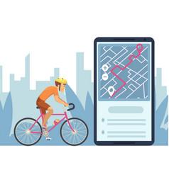 Navigation concept mobile city map navigation app vector