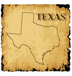 Old texas map vector