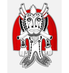 Ornate doodle fantasy monster personage vector