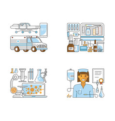 page layout for medical centre vector image