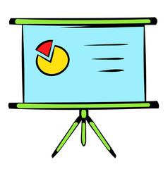Presentation screen icon icon cartoon vector
