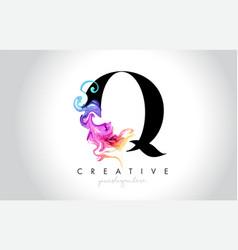 Q vibrant creative leter logo design vector