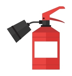 Red fire extinguisher isolated vector image