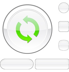 Refresh white button vector image