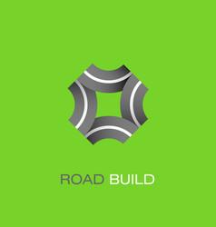 Road build logo vector