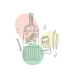 salt pepper olive oil vector image