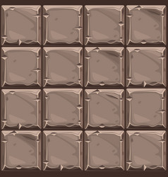 Seamless texture of brown square stone background vector
