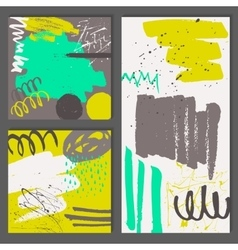 Set of abstract universal cards vector image