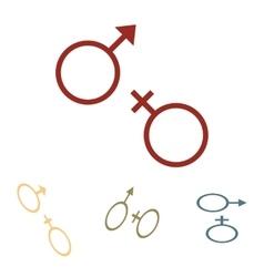 Sex symbol set Isometric vector