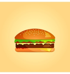 Simple Burger Icon eps 10 vector image