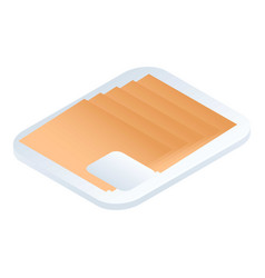 sliced supermarket cheese icon isometric style vector image