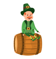 st patricks day leprechaun vector image