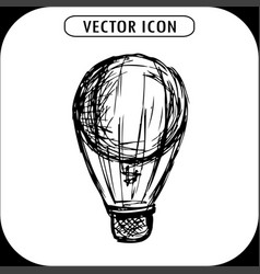 steampunk vintage hot air balloon hand drawn vector image