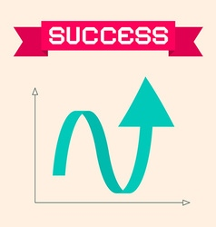 Success Graph with Arrow vector image