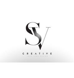 Sv letter design logo logotype icon concept vector