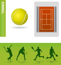 Tennis design elements vector