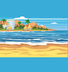 Vacation travel relax tropical beach island vector